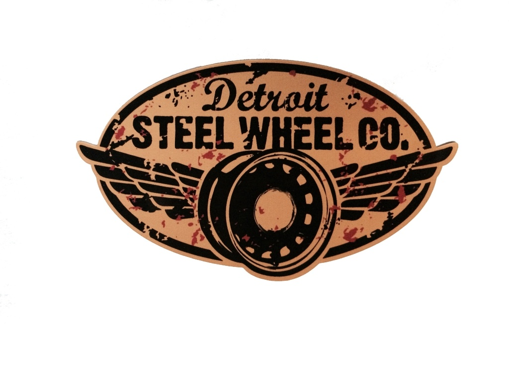 Detroit Steel Wheel sticker