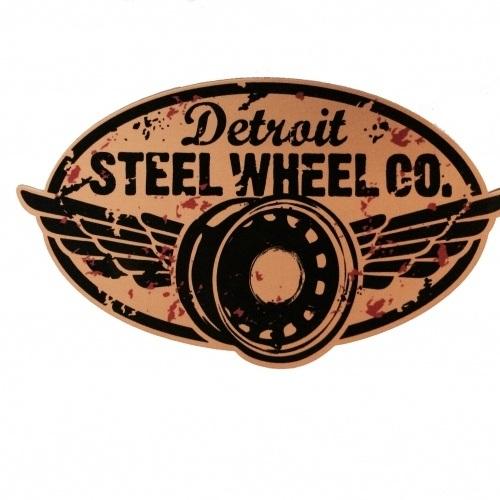 Detroit Steel Wheel sticker