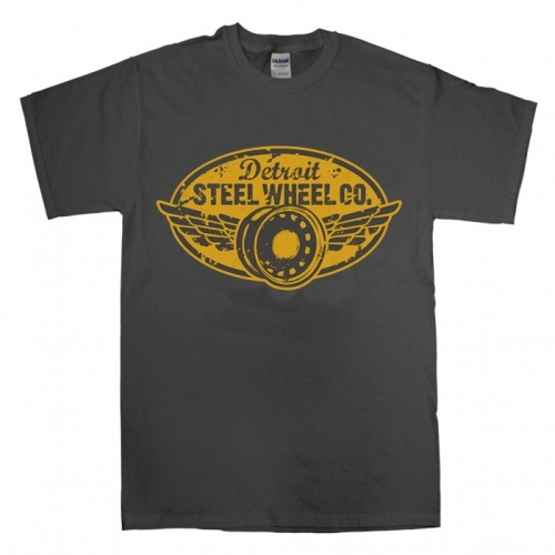 Detroit Steel Wheel charcoal crew