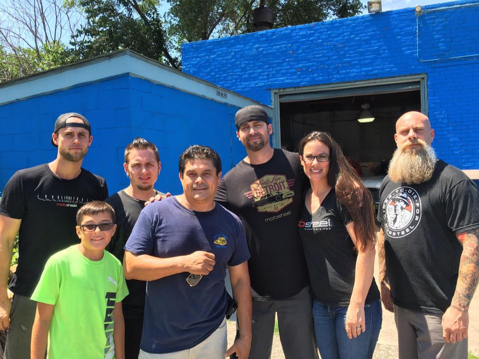 Mobsteel hanging with Mario from Mario's Upholstery