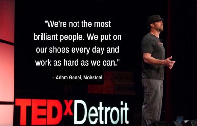 Adam killing it at TedEx Detroit