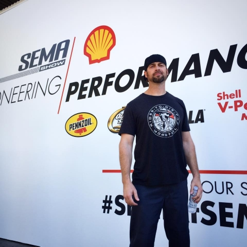 Mobsteel and Detroit Steel Wheel sanding tall and representing at SEMA 2016