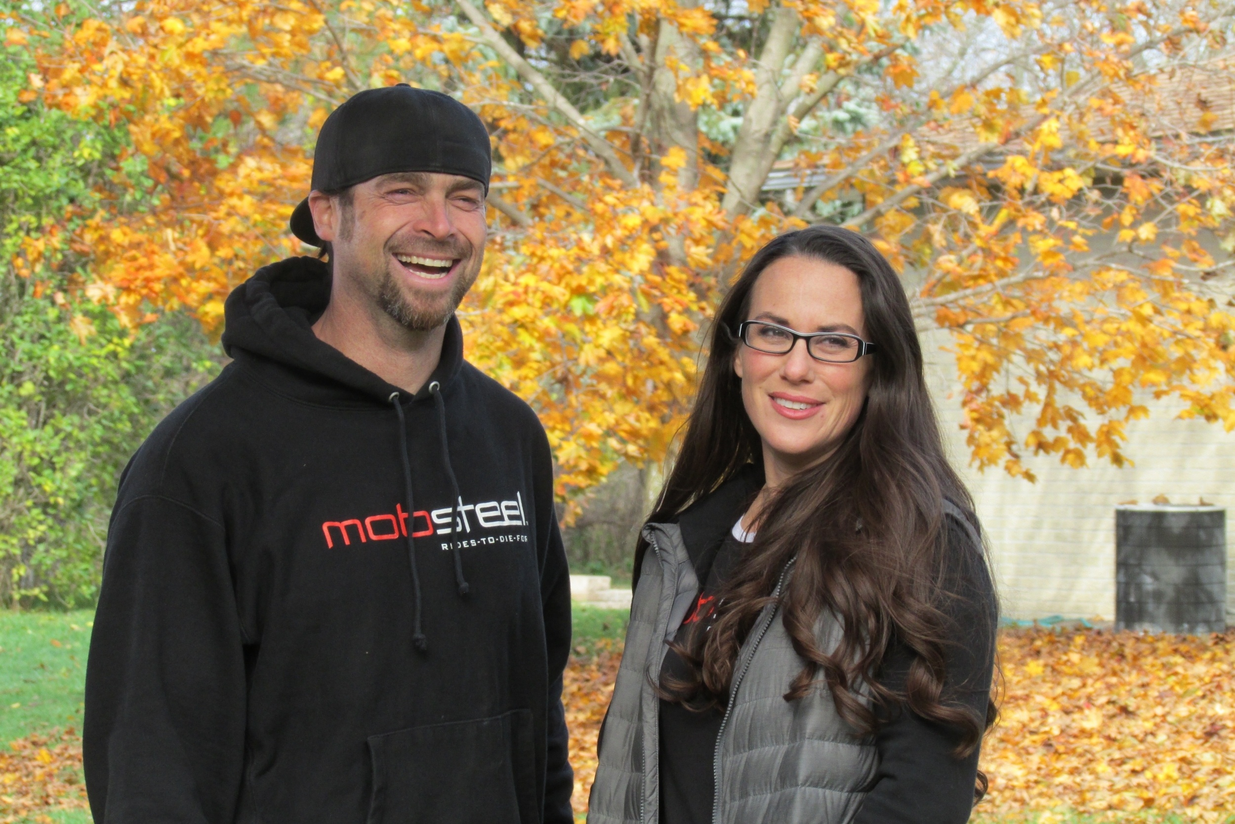Pam and Adam Genei Owners of Mobsteel