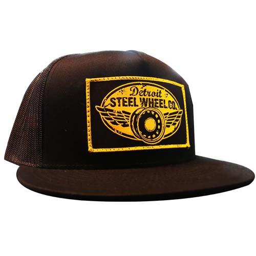 """b1711dc89b071 Detroit Steel Wheel Co."""" Trucker Mesh Snapback Hat – Mobsteel"""